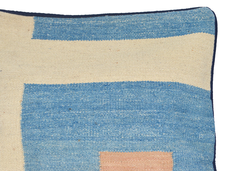 Orientalische Antik Kelim Kissen Unikat aus Wolle, handgewebte Dekokissen, Vintage AKS 016 Größe 40 x 40 cm