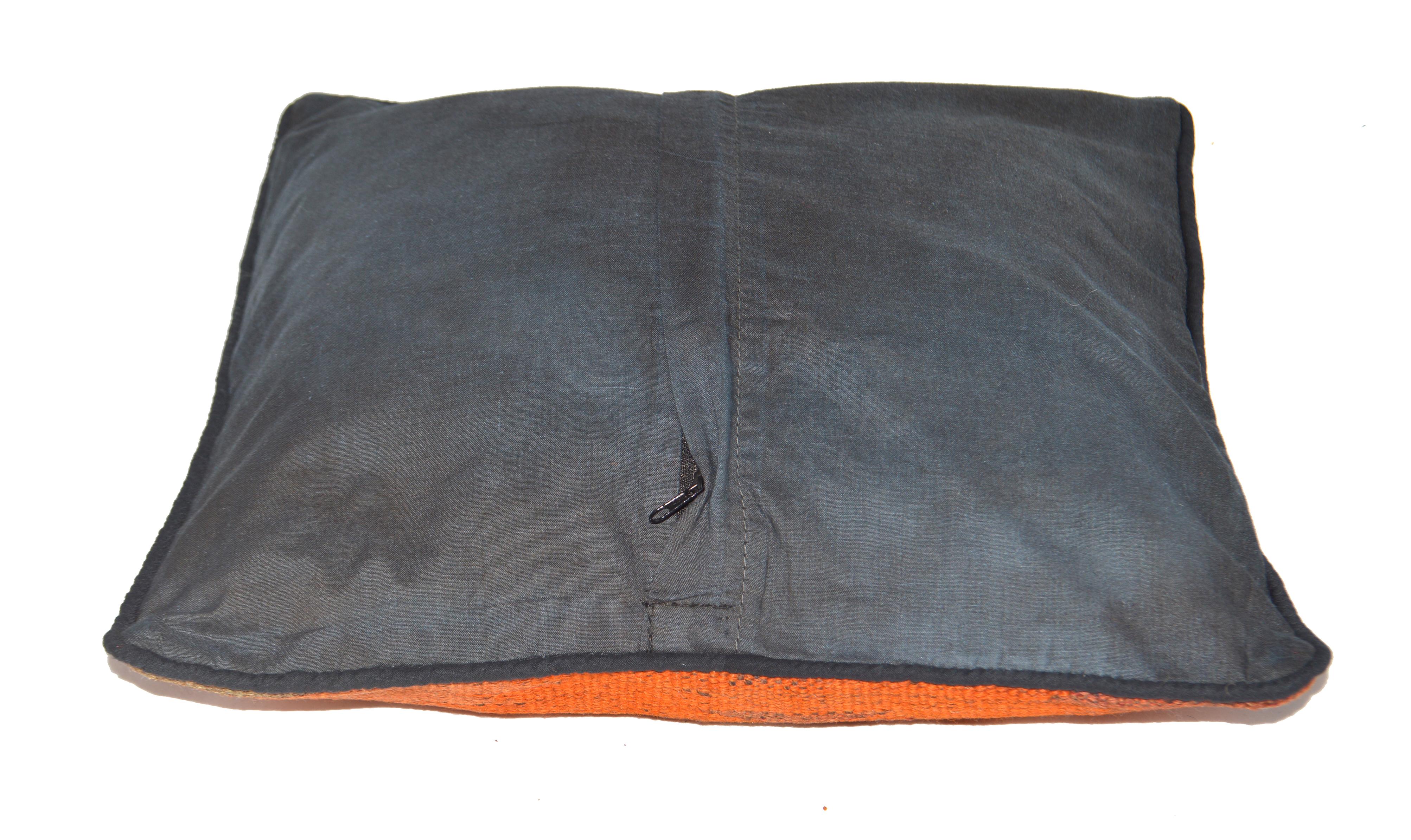 Orientalische Antik Kelim Kissen Unikat aus Wolle, handgewebte Dekokissen, Vintage AKS 011 Größe 40 x 40 cm