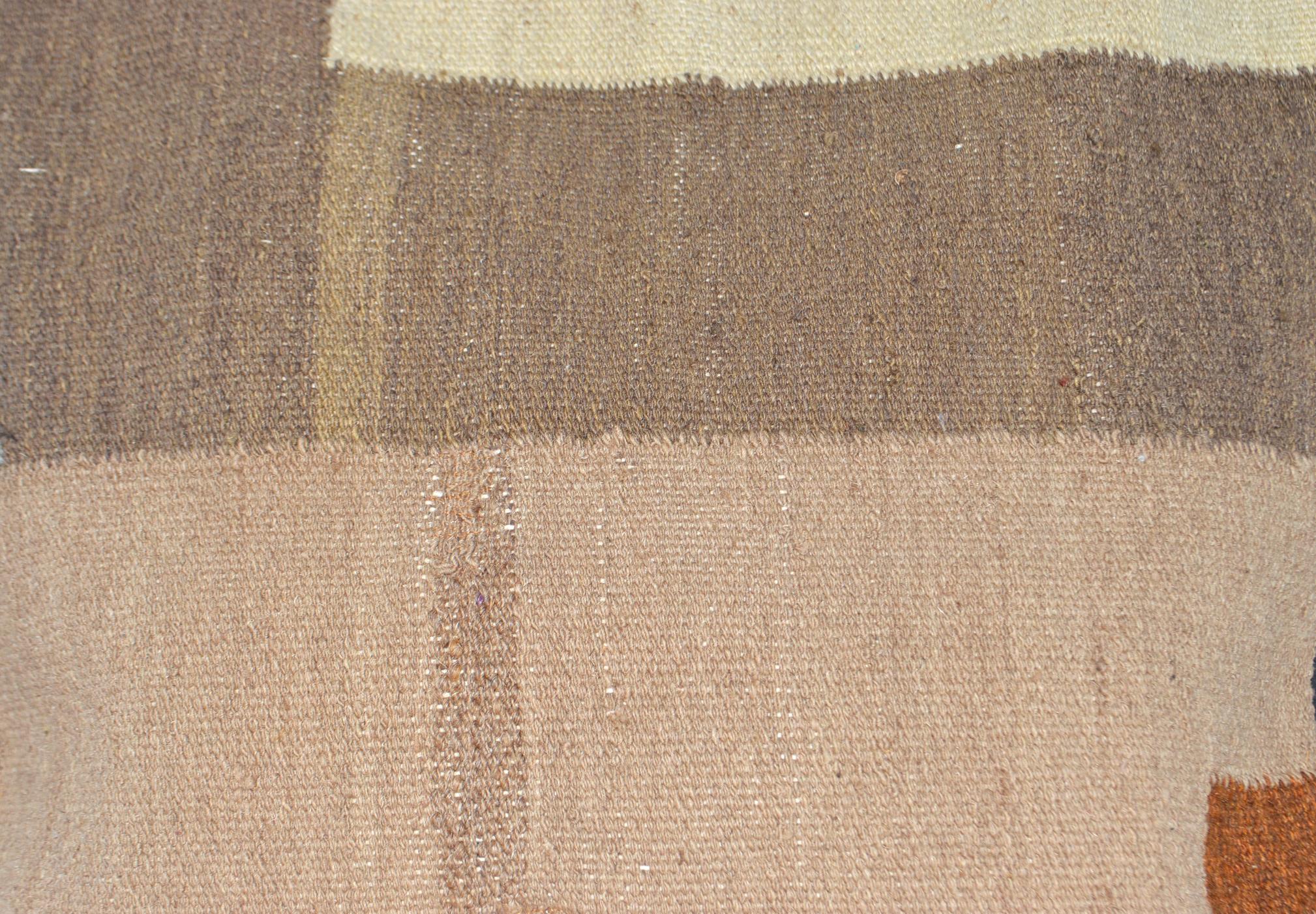 Orientalische Antik Kelim Kissen Unikat aus Wolle, handgewebte Dekokissen, Vintage AKS 017 Größe 40 x 40 cm