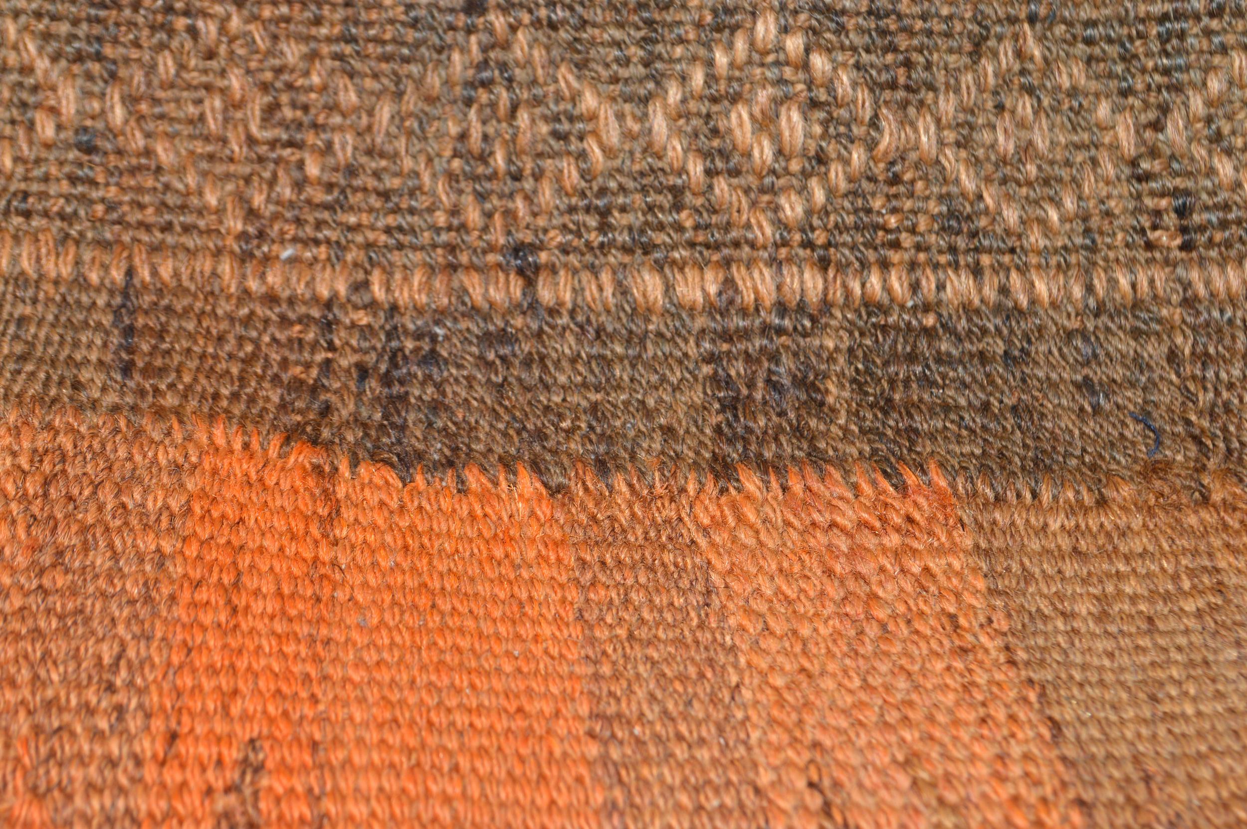 Orientalische Antik Kelim Kissen Unikat aus Wolle, handgewebte Dekokissen, Vintage AKS 013 Größe 40 x 40 cm