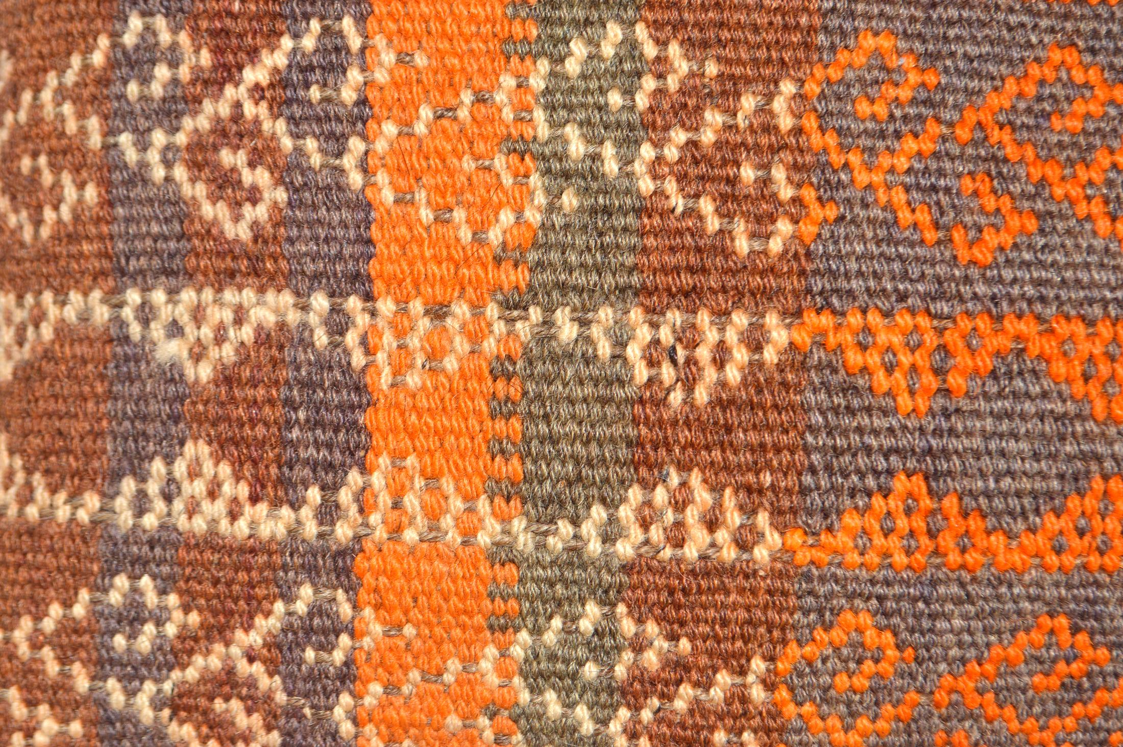 Orientalische Antik Kelim Kissen Unikat aus Wolle, handgewebte Dekokissen, Vintage AKS 006 Größe 40 x 40 cm