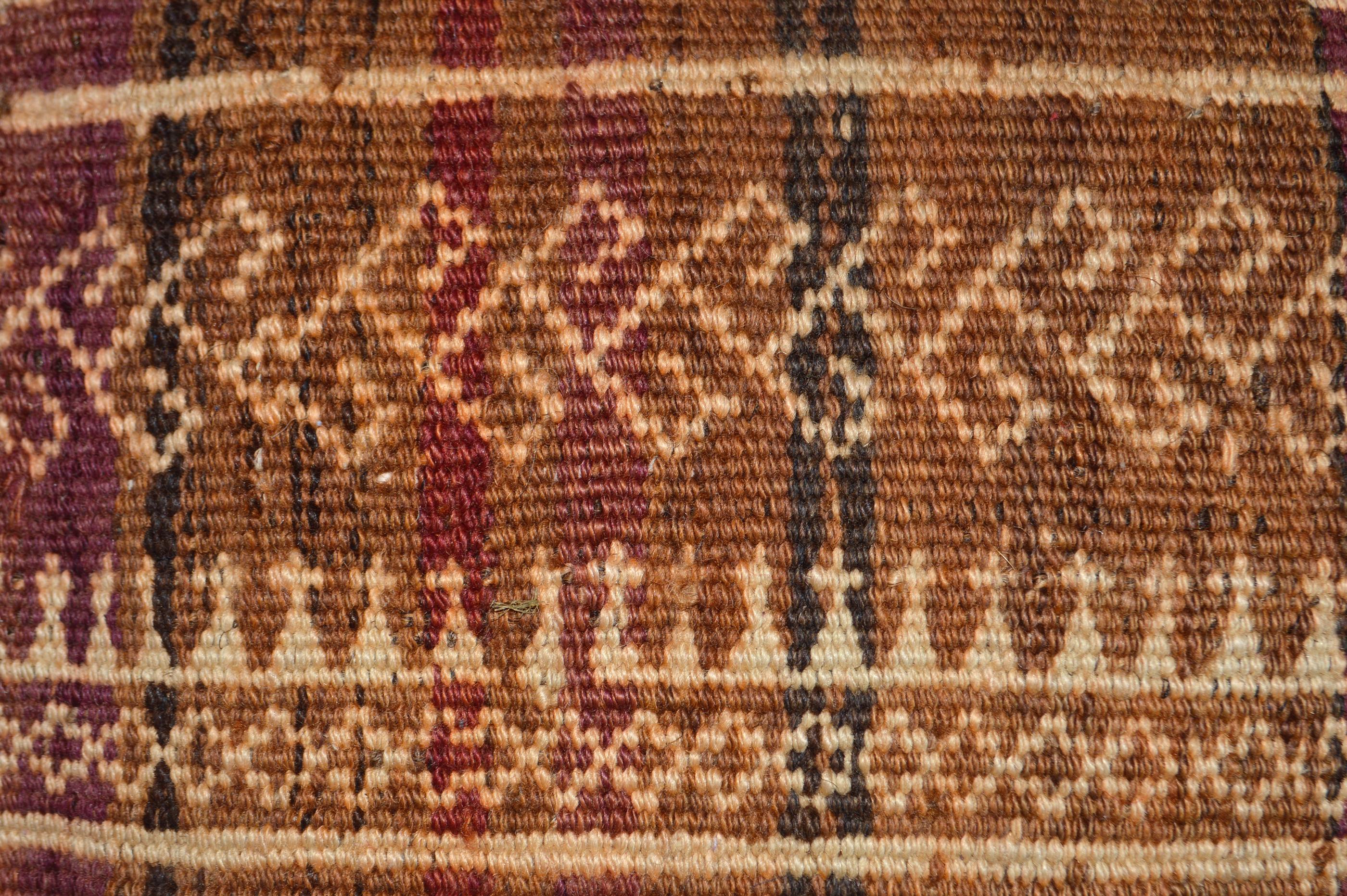 Orientalische Antik Kelim Kissen Unikat aus Wolle, handgewebte Dekokissen, Vintage AKS 01 Größe 43 x 42 cm