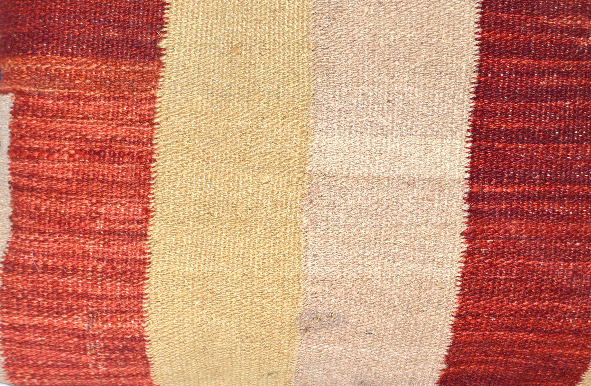 Orientalische Antik Kelim Kissen Unikat aus Wolle, handgewebte Dekokissen, Vintage AKS 015 Größe 40 x 40 cm